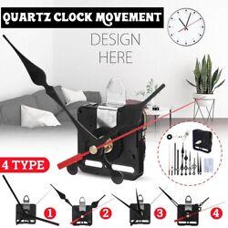 4 Type Hand DIY Silent Quartz Wall Clock Movement Mechanism Kit Part W/ Hook Up