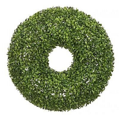 22 inch Artificial In Outdoor Boxwood Topiary Wreath Plant Tree Flower Christmas