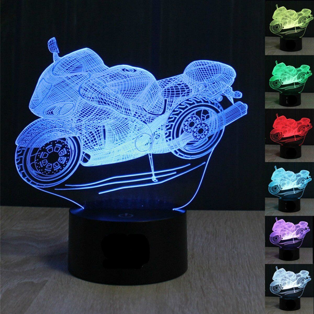 Desk Lamp Motorcycle 3D Decor Acrylic Night light LED lamp Furniture Decorative