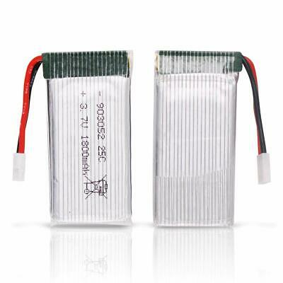 3.7V 1800mah Lipo Battery 25C XH2.54 Close up with USB Charger for RC Quadcopter US
