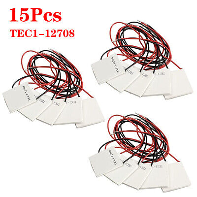 15 Pcs Tec1-12708 Thermoelectric Cooler Cooling Peltier Plate Qcmax 75w 4040mm