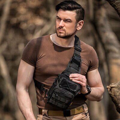 Tactical Shoulder Bag Messenger Sling Chest Pack Military Molle Outdoor Backpack