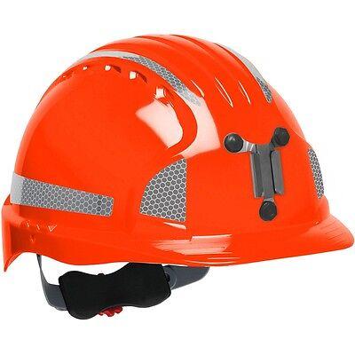 Jsp Mining Hard Hat Cap Style With 6 Point Ratchet Suspension Orange