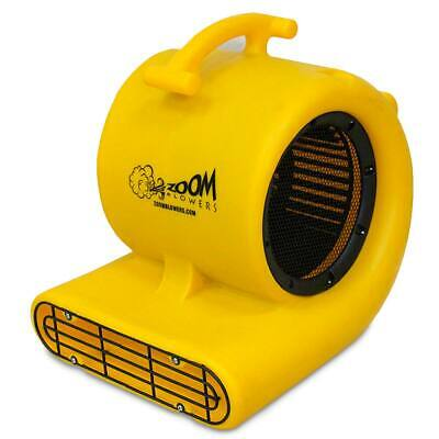 Zoom 12 Hp Floor Dryer 3 Speed Portable Air Blower Wet Room Carpet 1600 Cfm Fan