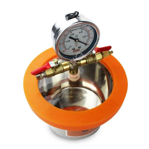 BACOENG 1.5L Stainless Steel Mini Vacuum Chamber Degassing Moudling Casting