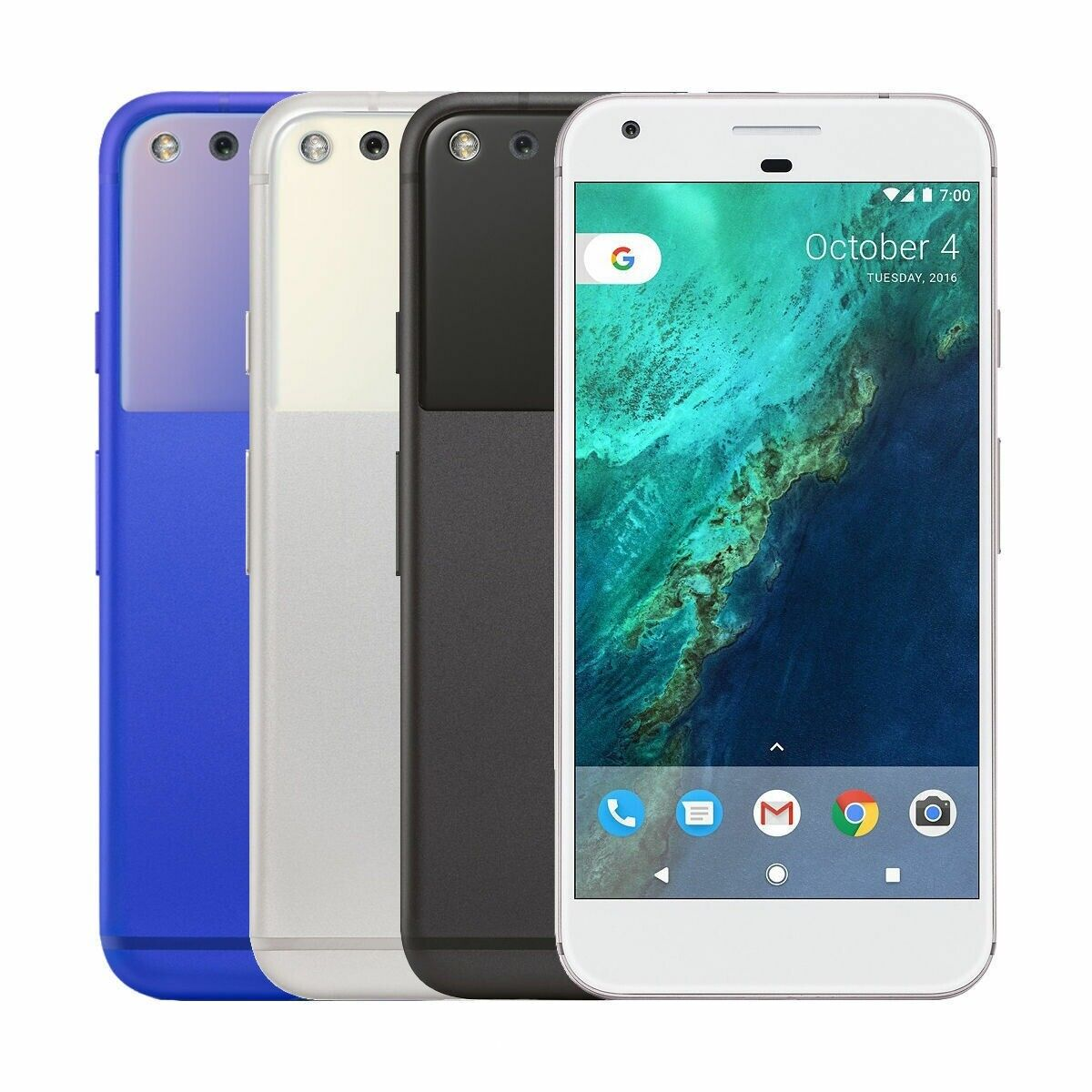 Android Phone - Google Pixel XL 32gb 128gb Blue Silver Black Unlocked Android GSM World Phone
