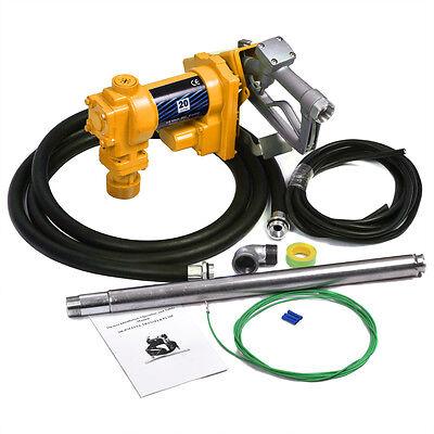 12v Dc 20gpm Gasoline Fuel Transfer Pump Gas Diesel Kerosene Car Truck Tractor