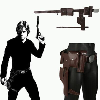 Costume Gun Holster (Luke Skywalker Belt with Gun Holster Star Wars Cosplay Costume Replica Prop)