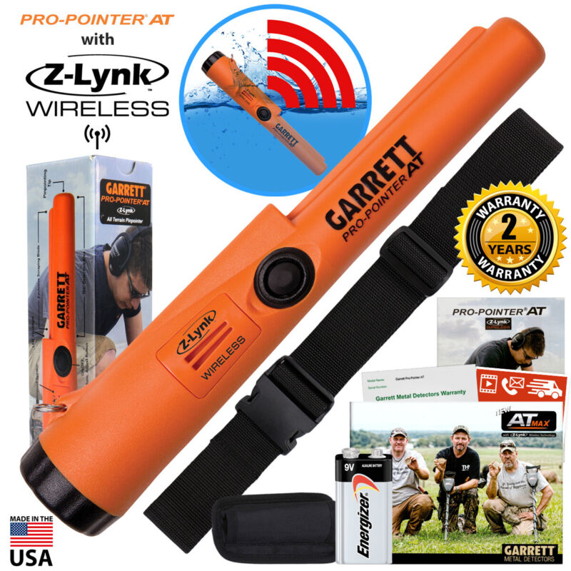 Garrett Pro Pointer AT Z-LYNK Waterproof Pinpointer with Belt and Holster