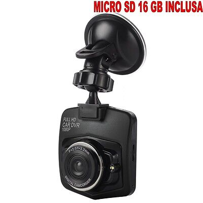 Mini Cámara para Coche Full HD + SD16GB Car Cam DVR 1080p...