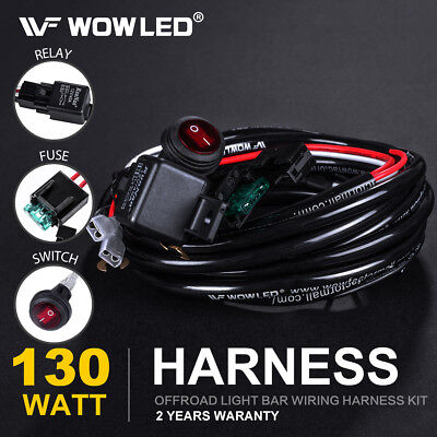 Wiring Harness Switch Relay Kit for Connect 2 LED Work Driving Light Bar Truck (Light Switch Relay)
