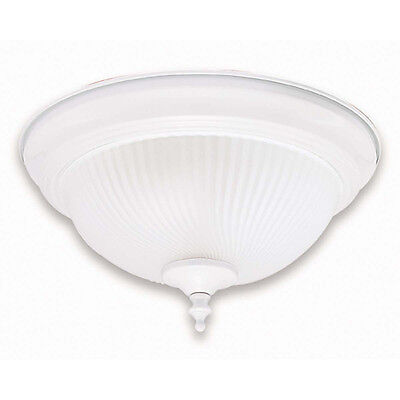 """WHITE AND FROSTED SWIRL GLASS CEILING LIGHT FIXTURE 13"""""""