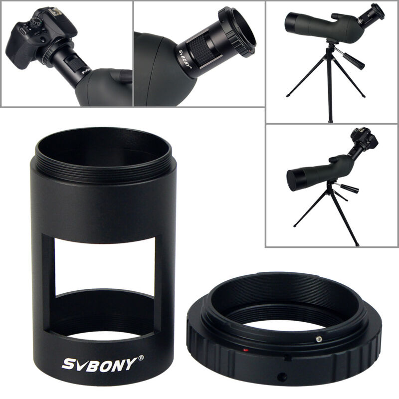 SVBONY Photography Sleeve Tube M42 Thread with T- Ring Camera Adapter for SV28