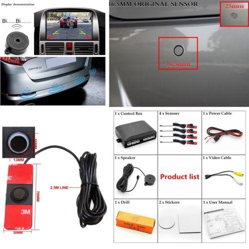 4x Visible Reverse Car Parking Backup Assistance Radar Alarm System Sensor 1.5m