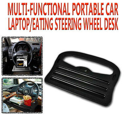 Zone Tech Laptop Tray Table - Stand Steering Wheel Eating Mount Car Travel Desk