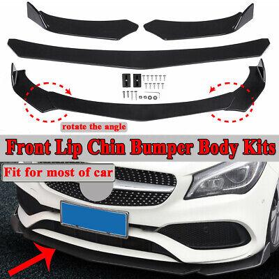 Front Bumper Lip Spoiler Splitter Body Kit For Mercedes Benz A C E CLA GLA Class