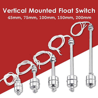 45-200mm Stainless Steel Water Tank Float Switch Liquid Sensor Level Controller