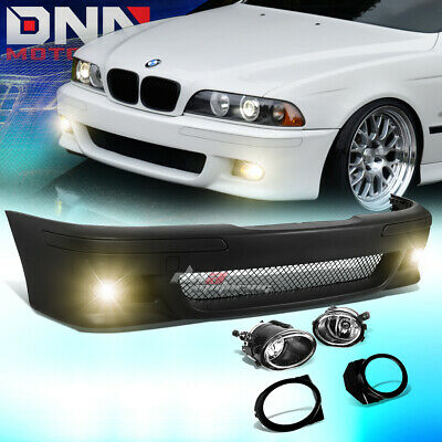 FOR 96-03 BMW E39 5SERIES M5 STYLE ABS FRONT BUMPER COVER BODY KIT+FOG LIGHT for sale  Rowland Heights