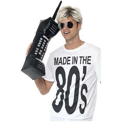 Inflatable Brick Cell Phone Funny Adult 80s Costume Accessory Fancy - Cell Phone Costume
