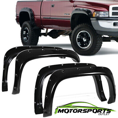 For 1994-2002 Dodge Ram 1500 2500 3500 Matte Black Fender Flares Pocket Style