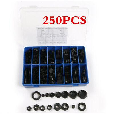 Rubber 250pcs Grommet Assortment Firewall Hole Plug Set Electrical Wire Gaskets