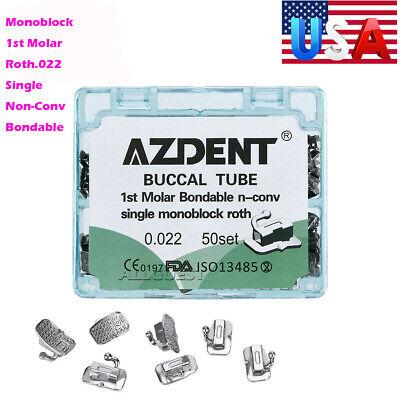 Sale Dental Orthodontic Buccal Tube Monoblock 1st Molar Roth.022 Single Non-conv
