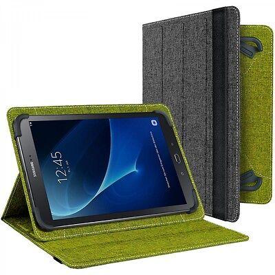 10.1 Book Cover (Book Cover für Samsung Galaxy Tab A 10.1 2016 Tasche Schutz Hülle grau grün )