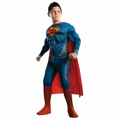 Superman Kinderkostüme Superheld Halloween Man Of Steel Kindergröße (Große Kinder Halloween Kostüme)