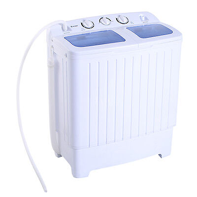 غسالة ملابس جديد Goplus Portable Mini Compact Twin Tub 11lb Washing Machine Washer Spin Dryer