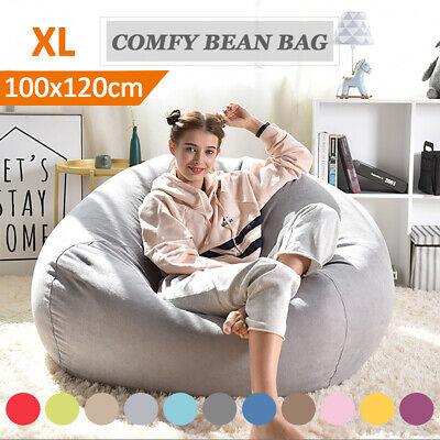 Extra Large Bean Bag Chair Sofa Cover Indoor/Outdoor Game Seat BeanBag Adult ()