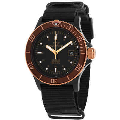 Glycine Combat Sub Golden Eye Automatic Black Dial Men's Watch GL0173