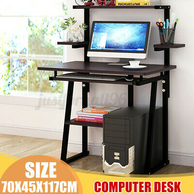 Computer Desk PC Laptop Table Bookshelf Study Workstation Home Office W/ Shelf