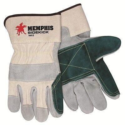 Memphis Glove 16012 Dozen Large Sidekick Gloves Double Select Leather Palm - Double Palm Select Leather