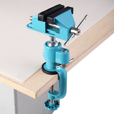 Small Mini Hobby Clamp On Benchtop Table Spinning Swivel Vise