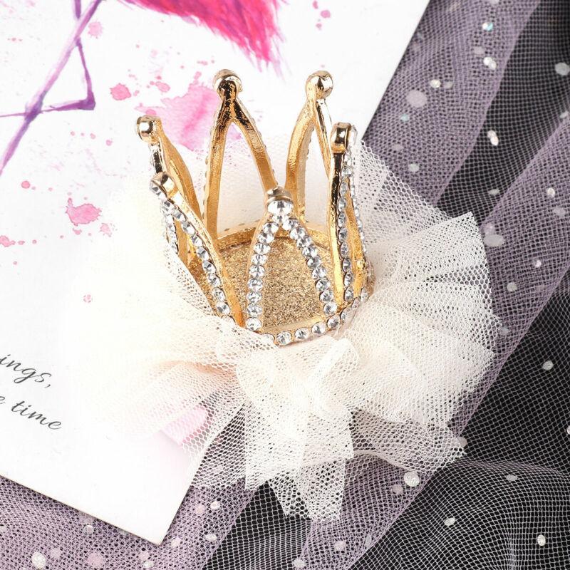 Princess Floral Glittery Headdress Kids Toddler Baby Girls Crown Tiara Headband