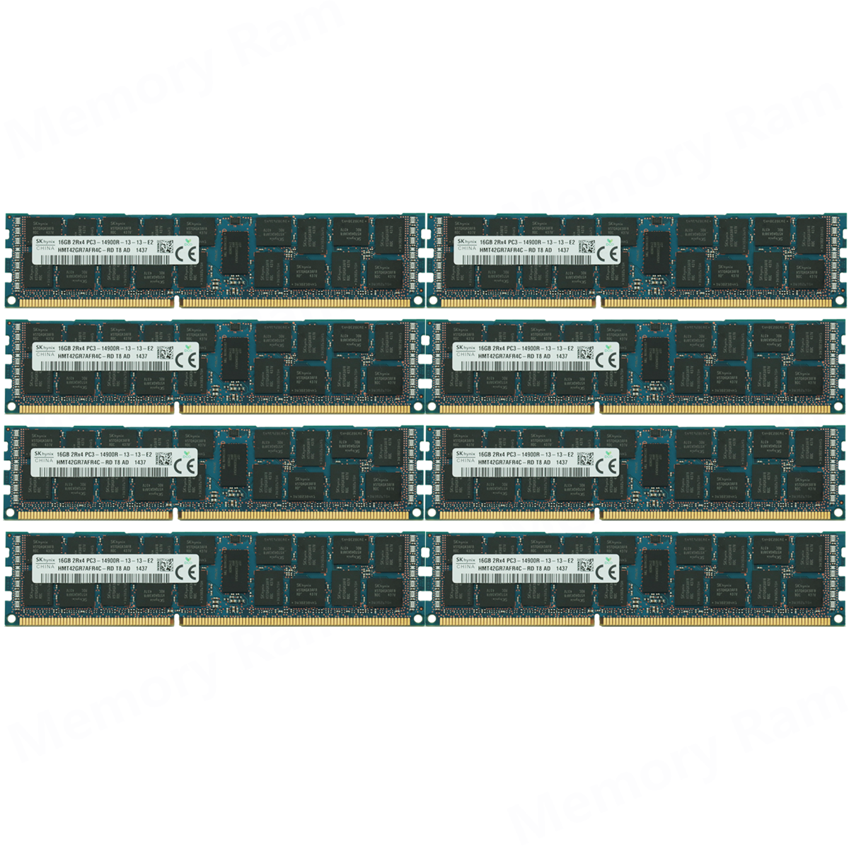 Hynix 128GB 8X 16GB PC3-14900R 2RX4 DDR3-1866MHZ REGISTERED ECC REG Server Ram