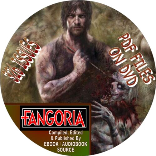 FANGORIA HORROR MAGAZINE - 326 ISSUES - PDF FILES ON DVD - HORROR, MOVIE