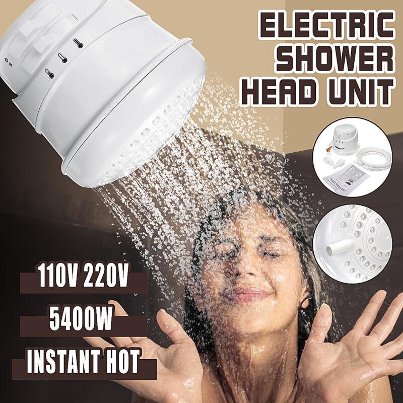 110V 5400W Electric Shower Head Instant Hot Water Bath Heater Boiler Tool Showe