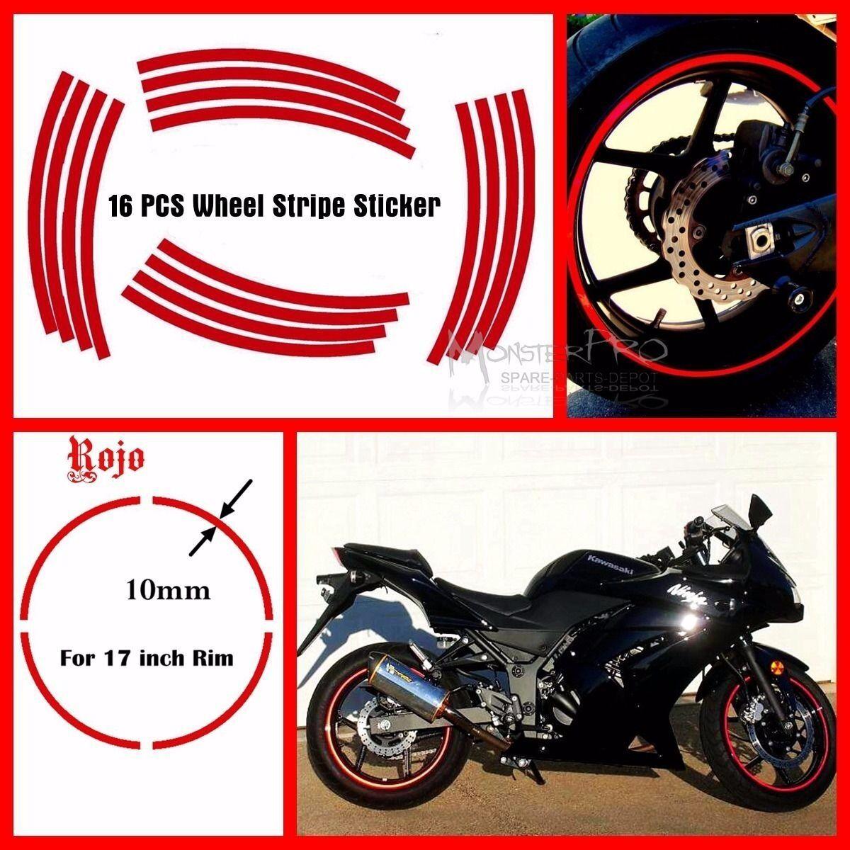 "Motorcycle 17/"" Motorbike Wheel Rim Stripe Tape Honda CBR500R CBR600F CBR600F2"