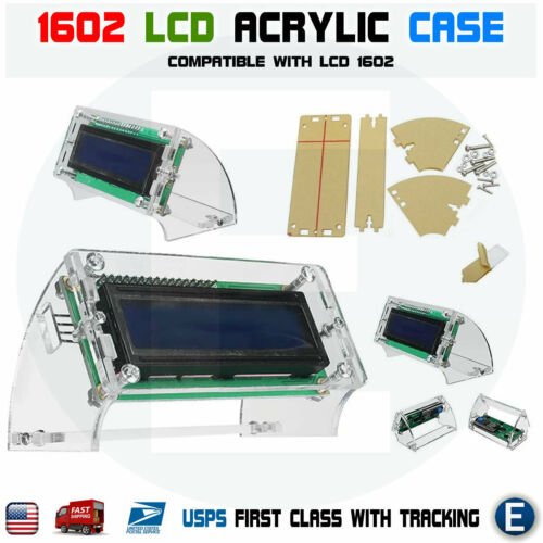 LCD1602 Transparent Acrylic LCD Shell for 2.5