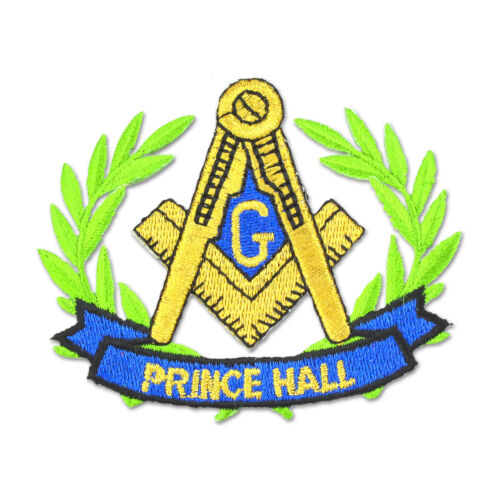 Prince Hall Wreathed Square & Compass Embroidered Masonic Patch