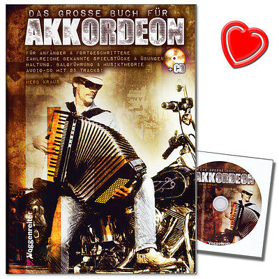 Das große Buch für Akkordeon - Akkordeonschule mit CD - 9783802409905