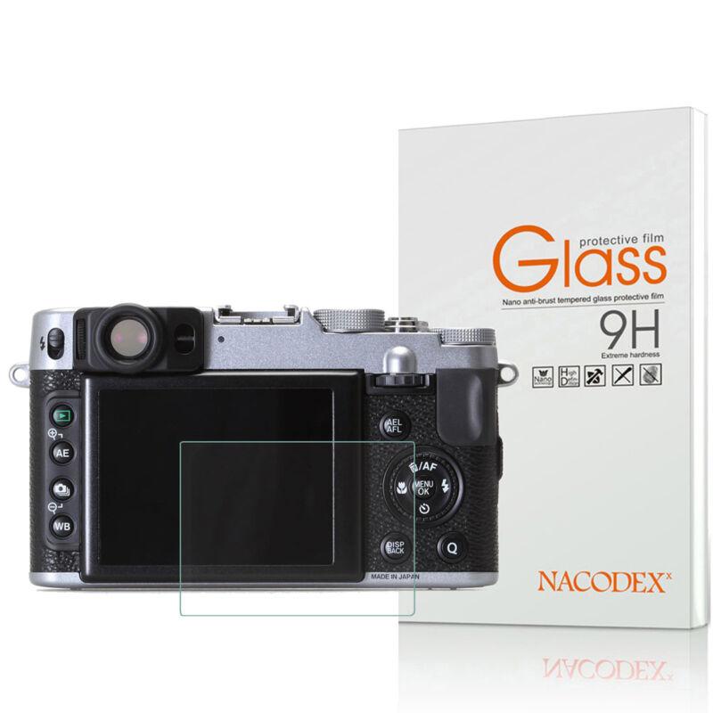 Nacodex For Fujifilm X100S X100 X20 X10 X-E1 Tempered Glass Screen Protector