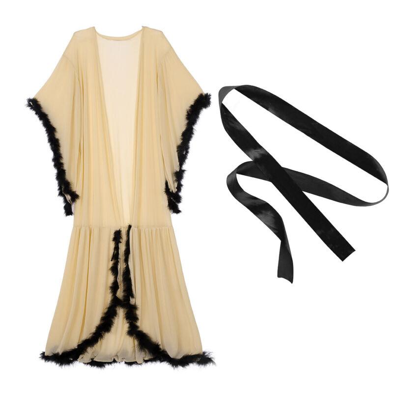 Lässiges Maxikleid Kleid Morgenmantel Schlafanzug Schwarz Armeegrün Luftig BC200
