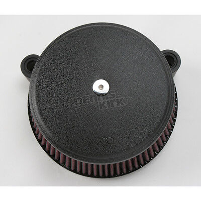 Arlen Ness Black Stage I Big Sucker Perform Air Cleaner Kit/Std Filter - 18-326