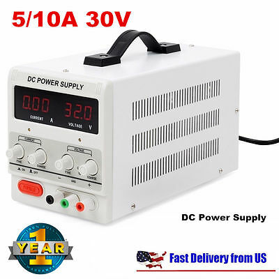 5a10a 30v Dc Power Supply Adjustable Dual Digital Variable Precision Lab Grafa