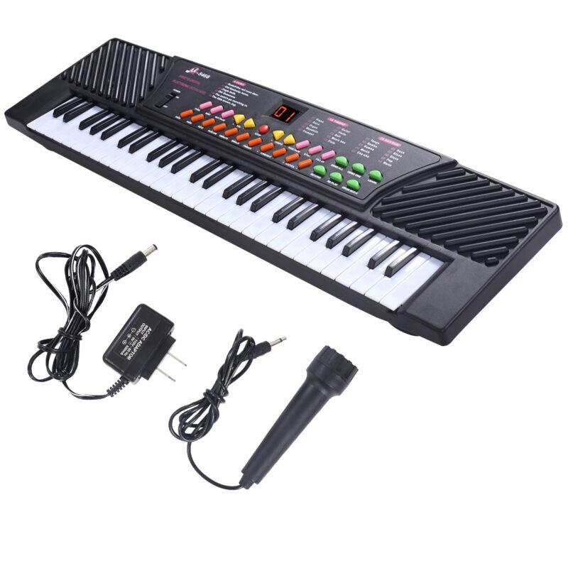 New 54 Keys Music Electronic Keyboard Kid Electric Piano Organ W/Mic & Adapter