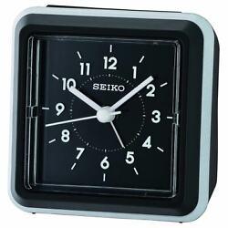 Seiko Alarm Tabletop Clock Ena Quartz Black QHE182KLH