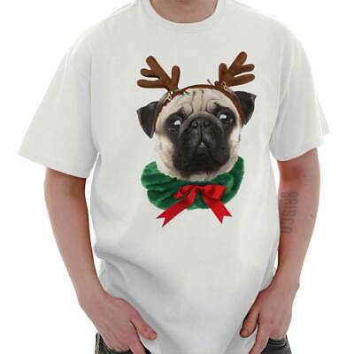 Cute Pug Christmas Shirt Happy Holiday Santa Claus Reindeer Classic T Shirt Tee](Happy Pug)