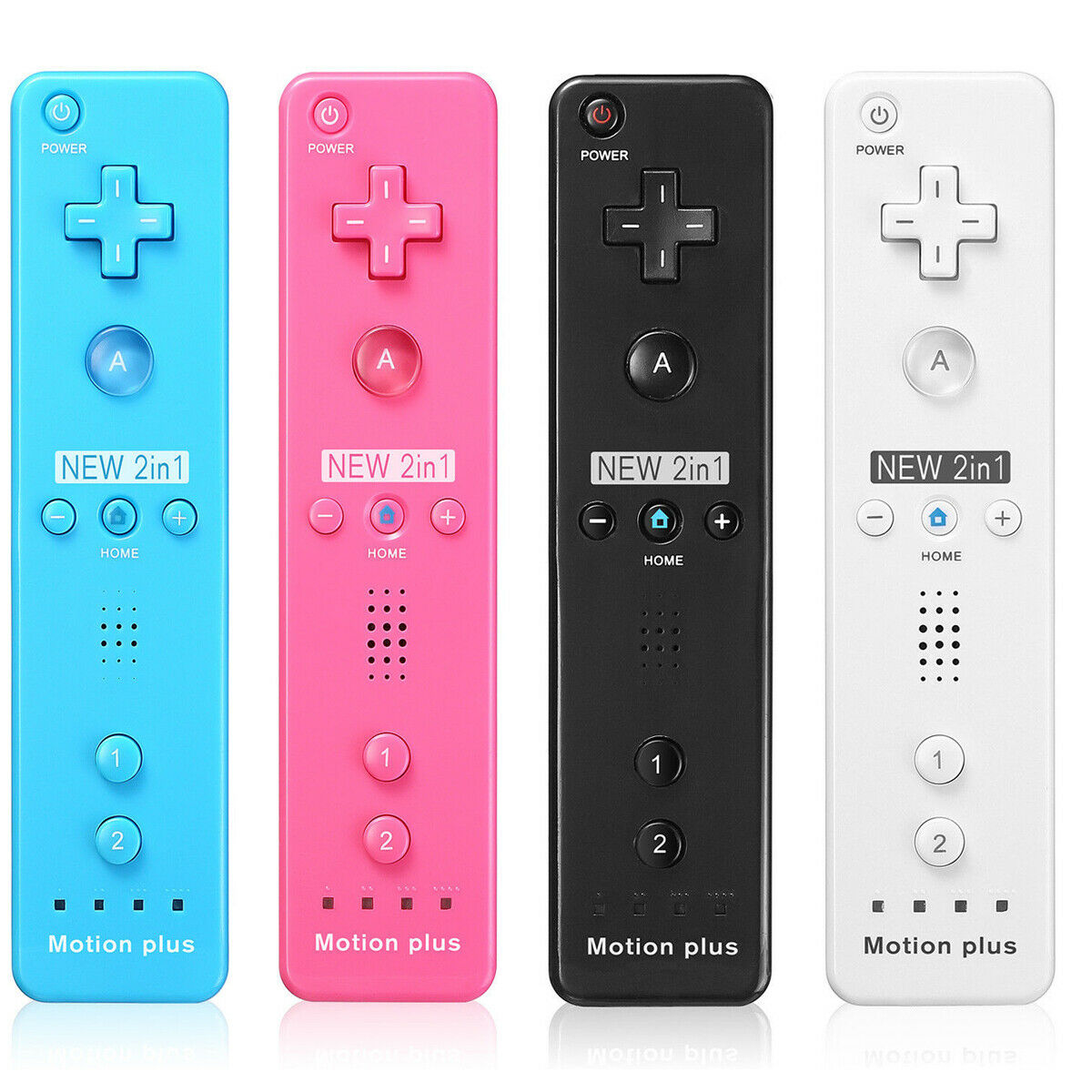 Built in Motion Plus Remote Controller + Case for Nintendo Wii / Wii U
